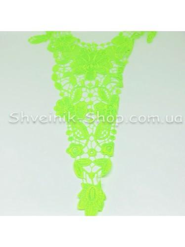 Горло Вязаное Длина 45 см Цвет Ультра Салатовый цена за 1 штуку