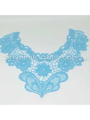 Горло Вязаное  Длина 28 см Цвет Голубое цена за 1 штуку