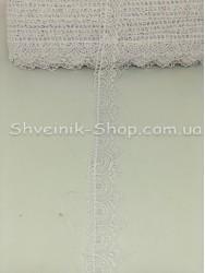 Кружево Вязаное  цвет Белое ширина 3 см в упаковке 13,8 метров цена за упаковку