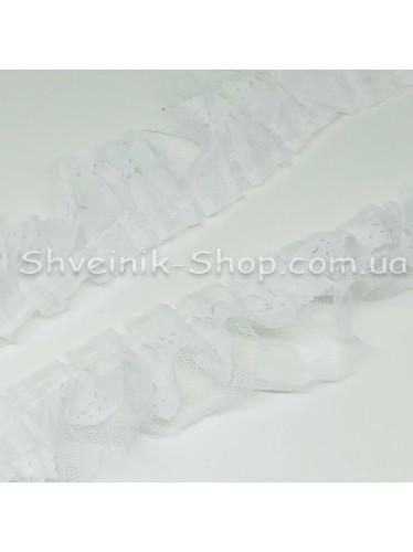 Рюшик Ширина : 5 см Цвет : Белый  в упаковке 25 метра