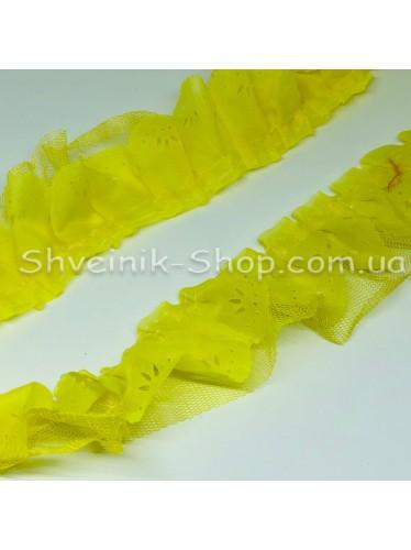 Рюшик Ширина : 5 см Цвет : Желтый   в упаковке 25 метра
