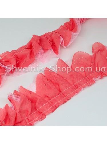 Рюшик Ширина : 5 см Цвет : Корал  в упаковке 25 метра