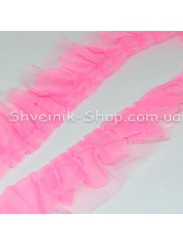 Рюшик Ширина : 5 см Цвет :  Розовый в упаковке 25 метра