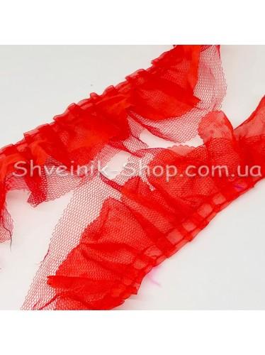 Рюшик Ширина : 5 см Цвет : Красный  в упаковке 25 метра