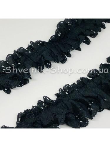 Рюшик Ширина : 5 см Цвет :  Черный в упаковке 23 метра