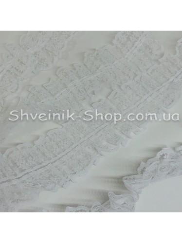 Рюшик Ширина : 4,5 см Цвет : Белый  в упаковке 36 метра