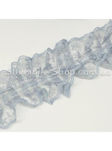 Рюшик Ширина : 4 см Цвет : Серый  в упаковке 18метров