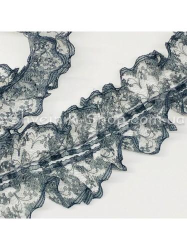 Рюшик Ширина : 4 см Цвет :  Темно Серый в упаковке 18метров