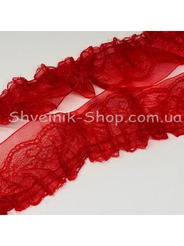 Рюшик Ширина : 5 см Цвет : Красный  в упаковке 36метров