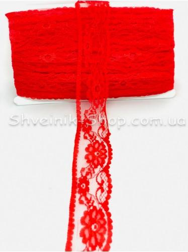 Кружево  цвет Красное в упаковке 46 метров Ширина 4,5 cм цена за упаковку