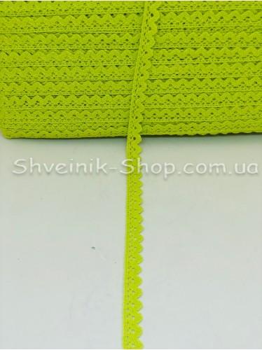 Кружево лён (Хлопок) цвет Горох ширина 1,5 см в упаковке 184 метра цена за упаковку