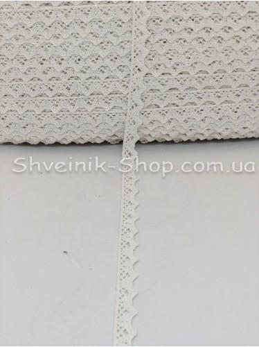 Кружево лён (Хлопок) цвет Белое ширина 1,5 см в упаковке 184 метра цена за упаковку