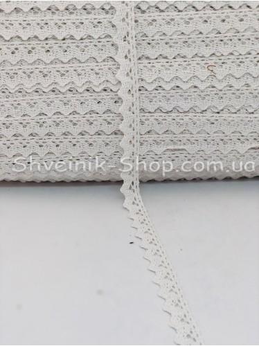 Кружево лён (Хлопок) цвет Белое ширина 1,7 см в упаковке 276 метра цена за упаковку
