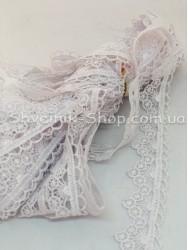 Кружево вязаное  цвет Белое ширина 3 см в упаковке 9,2метра цена за упаковку