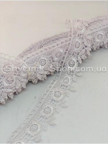 Кружево вязаное  цвет Белое ширина 3,5 см в упаковке 9,2метра цена за упаковку