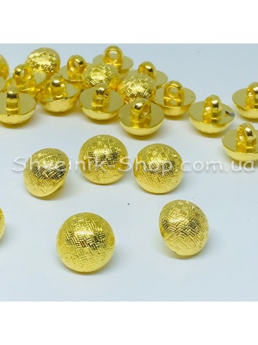 Пуговица на ножке пластиковая Размер : 12 мм цвет : Золото в упаковке 1000 штук