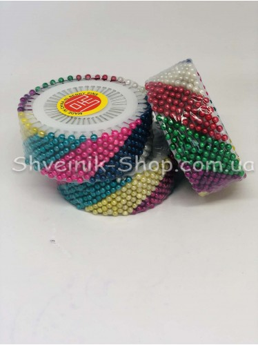 Булавка бусинка цветная 36 колец цена за упаковку