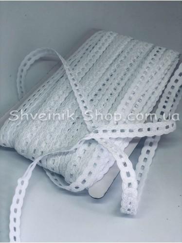 Резина Ажурная Ширина 1,7 см в упаковке 46 метров цвет : Белый