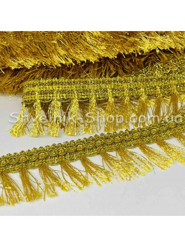 Бахрома порча ширина 4 см Цвет: золото в упаковке 18 м