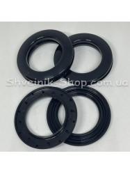 Люверс шторный Китай Круглый  Внутрений Диамитp :35 мм Цвет: черный в упаковке 50 штук цена за упаковку
