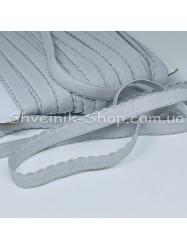 Резина зубчик мелкий ширина 1 см цвет : серый в упаковке 46 метров