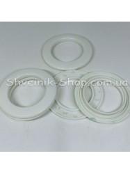 Люверс шторный Китай Круглый  Внутрений Диамитp :35 мм Цвет: белый в упаковке 50 штук цена за упаковку