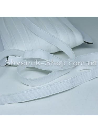Резина зубчик мелкий ширина 1 см цвет : белый в упаковке 46 метров