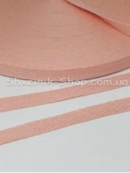 Киперная лента х/б ширина 1.0 см в упаковке 46м Цвет: Персик