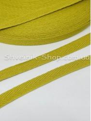 Киперная лента х/б  ширина 1 см в упаковке 46м Цвет: Горчица