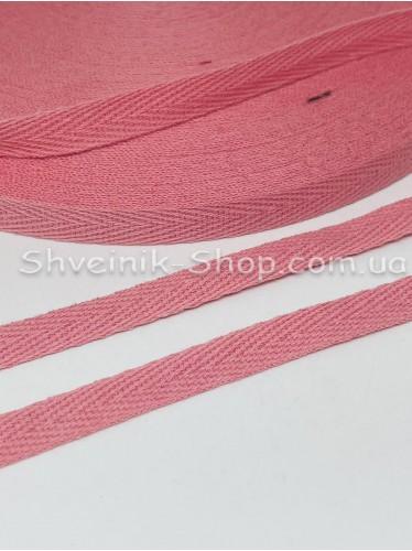 Киперная лента х/б  ширина 1 см в упаковке 46м Цвет: Коралл