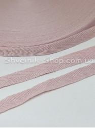 Киперная лента х/б  ширина 1 см в упаковке 46м Цвет: Пудра