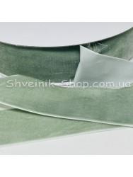 Велюр Бархат Размер 4 см Цвет : светлая оливка в упаковке 23 метров