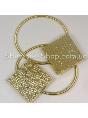 Магнит Шторный Пружина Квадрат Цвет Блестящие Золото в упаковке 2 шт цена за упаковку
