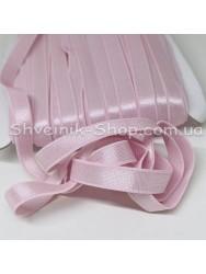 Резина для бретелек бледно розовая ширина 1см в упаковке 46м цена за упаковку