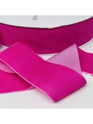 Велюр Бархат Размер 4 см Цвет : ярко розовый в упаковке 23 метров